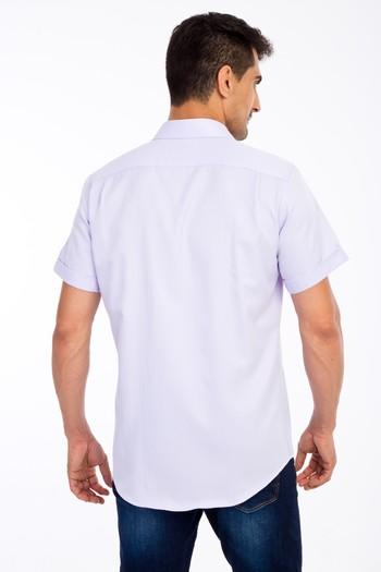 Erkek Giyim - Regular Fit Kısa Kol Desenli Gömlek