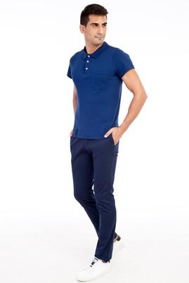 Erkek Giyim - Lacivert 54 Beden Kuşgözü Spor Pantolon
