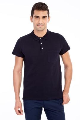 Erkek Giyim - Lacivert M Beden Polo Yaka Regular Fit Tişört