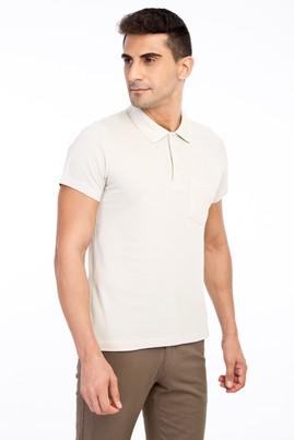 Erkek Giyim - Kum M Beden Polo Yaka Regular Fit Tişört