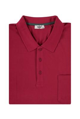 Erkek Giyim - Kırmızı 6X Beden King Size Polo Yaka Regular Fit Tişört