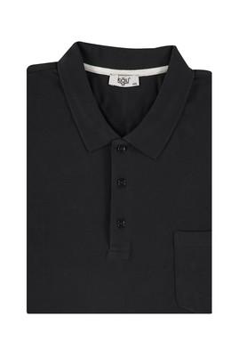 Erkek Giyim - Siyah 7X Beden King Size Polo Yaka Regular Fit Tişört