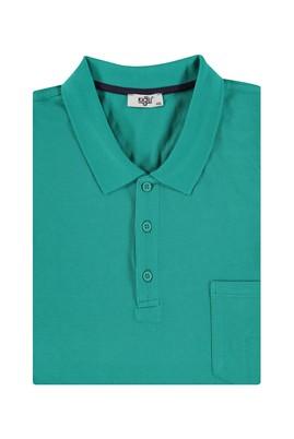 Erkek Giyim - Acık Yesıl 4X Beden King Size Polo Yaka Regular Fit Tişört