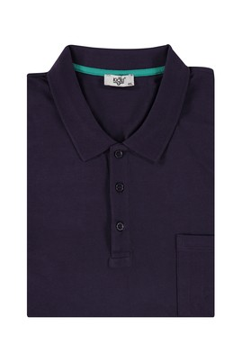 Erkek Giyim - Bordo 4X Beden King Size Polo Yaka Regular Fit Tişört
