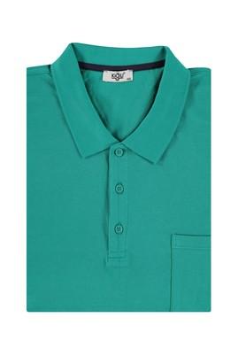 Erkek Giyim - Açık Yeşil 5X Beden King Size Polo Yaka Regular Fit Tişört