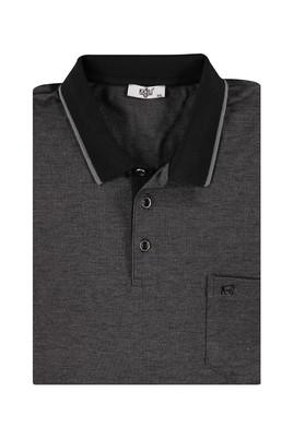 Erkek Giyim - Siyah 4X Beden King Size Polo Yaka Regular Fit Tişört