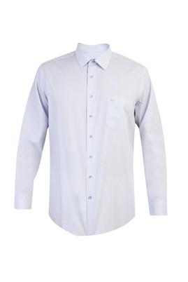 Erkek Giyim - Açık Gri XL Beden Uzun Kol Klasik Gömlek
