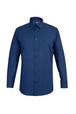 Erkek Giyim - Lacivert XXL Beden Uzun Kol Klasik Gömlek
