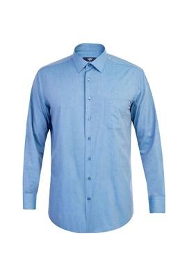 Erkek Giyim - Mavi 5X Beden Uzun Kol Klasik Gömlek