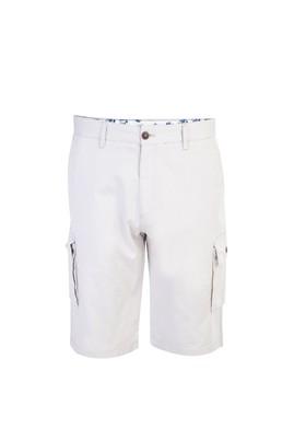 Erkek Giyim - Krem 52 Beden Spor Bermuda Şort