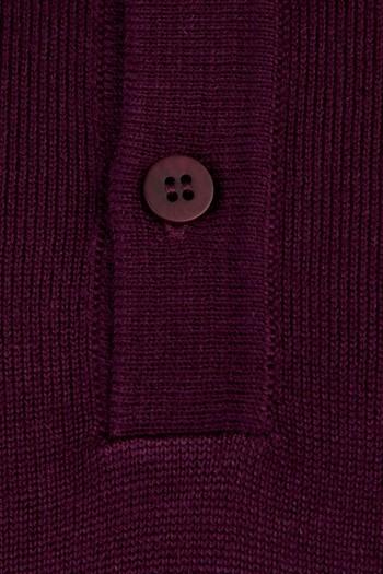 Erkek Giyim - Polo Yaka Yünlü Triko Kazak