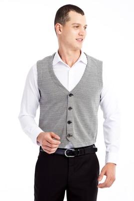 Erkek Giyim - Siyah L Beden Klasik Yelek