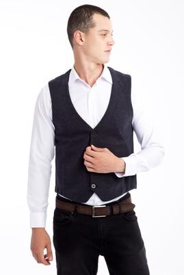 Erkek Giyim - Lacivert XXL Beden Klasik Yelek