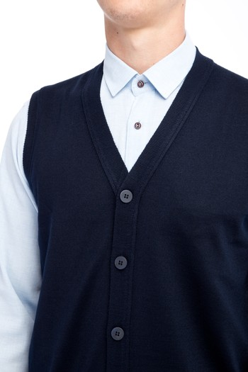 Erkek Giyim - Yünlü Triko Yelek