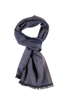 Erkek Giyim - Mavi STD Beden Desenli Atkı