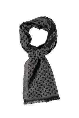 Erkek Giyim - Siyah STD Beden Desenli Atkı