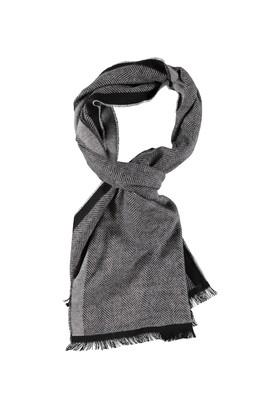 Erkek Giyim - Antrasit STD Beden Desenli Atkı