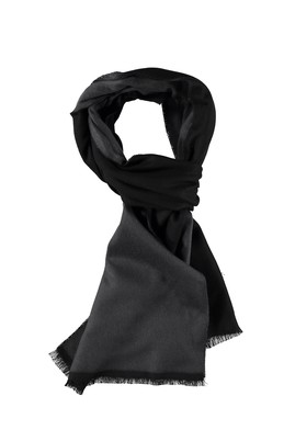 Erkek Giyim - Siyah STD Beden Çift Taraflı Atkı
