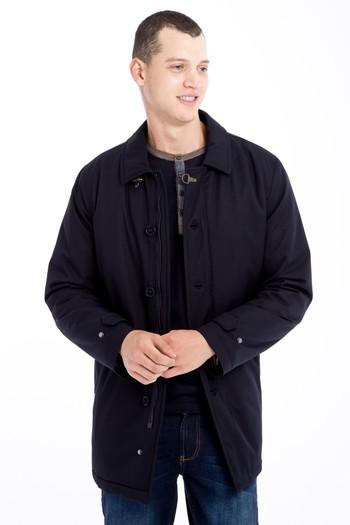 Erkek Giyim - Düz Pardösü