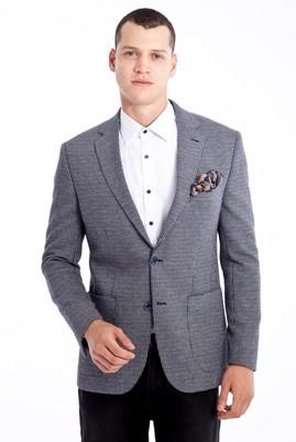 Erkek Giyim - Orta füme 50 Beden Slim Fit Kuşgözü Ceket