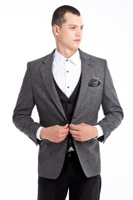 Erkek Giyim - Orta füme 52 Beden Kuşgözü Ceket