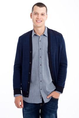 Erkek Giyim - Lacivert 3X Beden Slim Fit Sweatshirt / Hırka