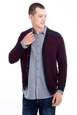 Erkek Giyim - Bordo XXL Beden Slim Fit Sweatshirt / Hırka