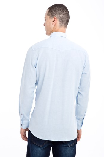 Erkek Giyim - Uzun Kol Desenli Gömlek