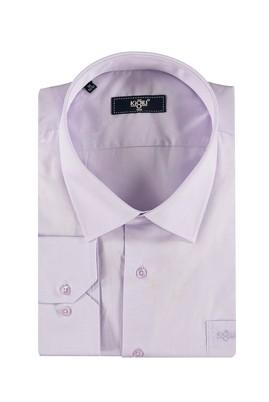 Erkek Giyim - Lila 7X Beden King Size Uzun Kol Gömlek
