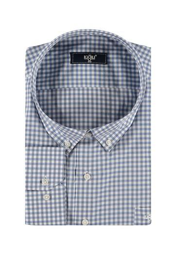 Erkek Giyim - King Size Uzun Kol Ekose Gömlek