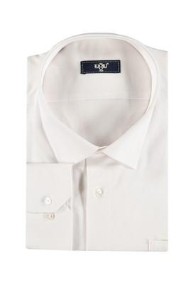 Erkek Giyim - Beyaz 7X Beden King Size Uzun Kol Gömlek