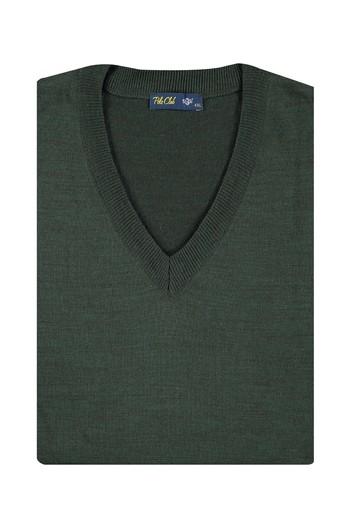 Erkek Giyim - King Size V Yaka Triko Kazak