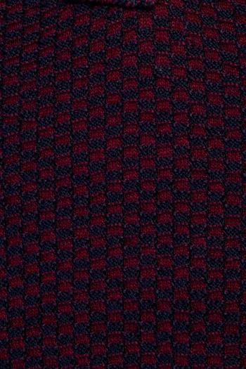 Erkek Giyim - Bato Yaka Yünlü Desenli Triko Kazak