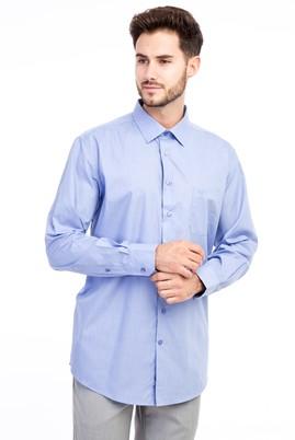Erkek Giyim - Lila XL Beden Uzun Kol Klasik Gömlek