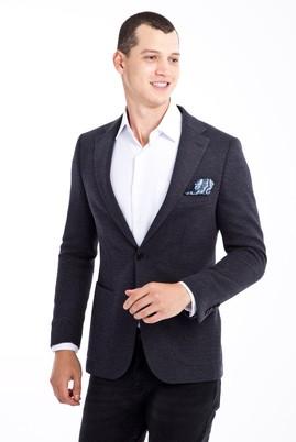 Erkek Giyim - Lacivert 52 Beden Regular Fit Kuşgözü Ceket