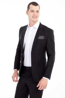 Erkek Giyim - Siyah 54 Beden Yünlü Blazer Ceket