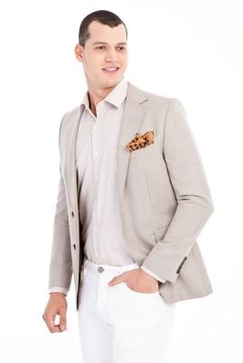 Erkek Giyim - TOPRAK 50 Beden Regular Fit Ekose Ceket