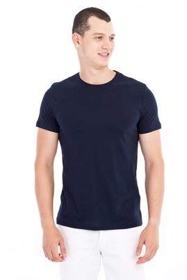 Erkek Giyim - Lacivert XL Beden Bisiklet Yaka Slim Fit Tişört