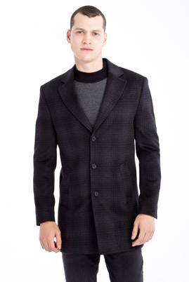 Erkek Giyim - Antrasit 66 Beden Yünlü Kaban