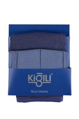 Erkek Giyim - Mavi 3X Beden 2'li Süprem Boxer