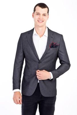 Erkek Giyim - Füme Gri 52 Beden Kuşgözü Ceket