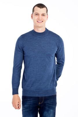 Erkek Giyim - Mavi M Beden Bato Yaka Yünlü Triko Kazak