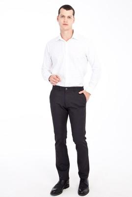 Erkek Giyim - Füme Gri 50 Beden Kuşgözü Spor Pantolon