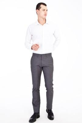 Erkek Giyim - Açık Gri 48 Beden Kuşgözü Spor Pantolon