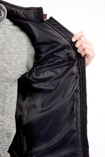 Erkek Giyim - Slim Fit Kapitone Mont