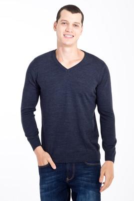 Erkek Giyim - Mavi M Beden V Yaka Regular Fit Triko Kazak