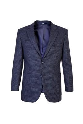 Erkek Giyim - Lacivert 52 Beden Desenli Ceket