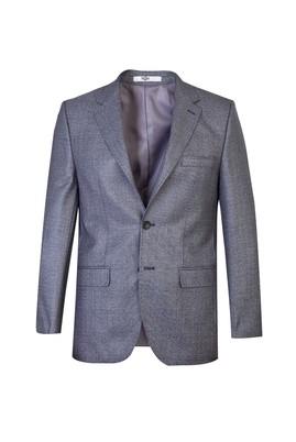 Erkek Giyim - Orta füme 58 Beden Regular Fit Ekose Ceket