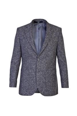 Erkek Giyim - Orta füme 50 Beden Desenli Ceket