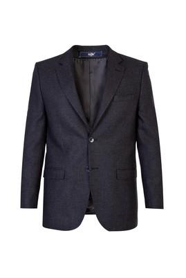 Erkek Giyim - Füme Gri 60 Beden Yünlü Kuşgözü Ceket